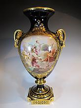 Amazing Old Vienna porcelain urn