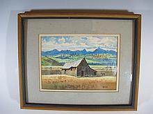Orris MOE (1920-?) American artist watercolor