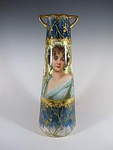 Probably Old Vienna porcelain vase
