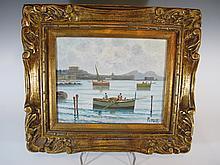 Italian artist PETRILLI oil on canvas seascape painting
