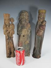18th/19th C probably from Spain religious wood sculptures