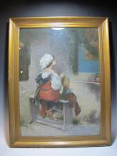 Late 19th C. Italian painting, unsigned