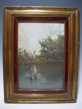 Antique European painting, V. ROSSI, circa 1900