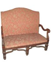 19th c. Continental Carved High Back Sofa