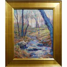 Contemporary Impressionist Oil Painting Of Old Lyme, CT
