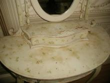 Flowered French Vanity Mirror Glove Box Early 1900's