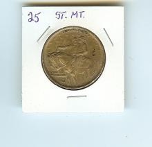 1925 STONE MOUNTAIN SILVER COMMEMORATIVE HALF DOLLAR