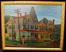 HARRY DIX OIL PAINTING ON CANVAS NICE MIDWEST SCENE