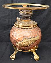 Copper Miller Arts & Crafts Adirondack Style Oil Lamp
