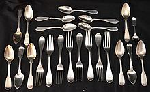 Lot of English Sterling Silver Flatware