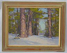 Allen D. Cochran Woodscape Painting