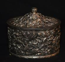 J.E. Caldwell Repousse Sterling Silver Box with Key