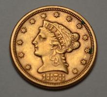 1878 American 2 1/2 Dollar Gold Coin