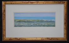 David Byard Ocean Shore Gouache Painting