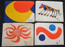 4 Alexander Calder Flying Color Posters