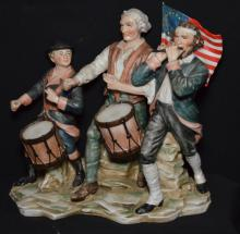 Group of 5 Bisque Americana Figures