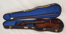 Unusual Vintage Violin with Inlaid Mother of Pearl