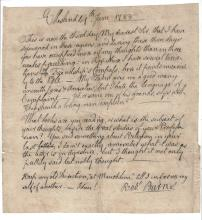 1788 Robert Burns Signed Letter with COA