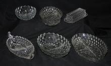 6 Pieces of Fostoria American Pattern Glass