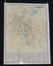 Plan of Danbury CT Vintage Map