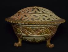Royal Worcester Porcelain Footed Potpourri