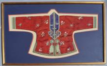Framed Chinese Silk Child's Dress Robe