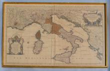 Hubert Jaillot Sanson 1692 Map of Italy