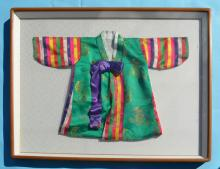 2 Framed Chinese Silk Jackets