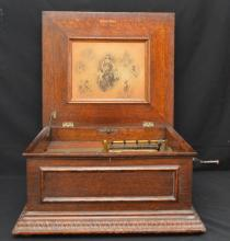 Circa 1896 Regina Music Box with 10 Discs