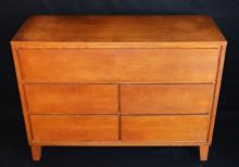 Conant & Ball Russel Wright 3 Drawer Dresser with Cabinet