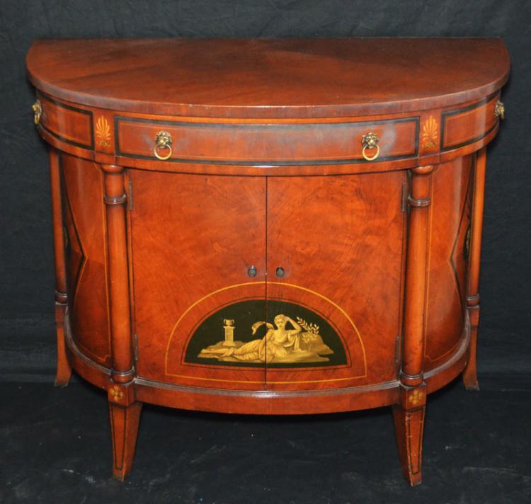 W Furniture: Royal Furniture Robert W. Irwin Demi Lune Server