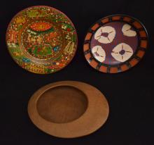 3 Contemporary Pottery & Terra Cotta Bowls ( 2 Artist Signed )