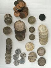 Nice Lot Of Antique Silver, Foreign and Collectible Coins
