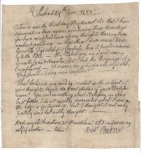 1788 Robert Burns Signed Letter
