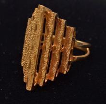 14k Gold Mid Century Gold Ring