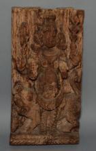 Carved Wood Hindu God Kalabhairava