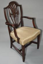 Set of 8 Federal Shield Back Chairs