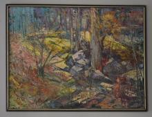Stanley Sobossek Signed Oil Painting