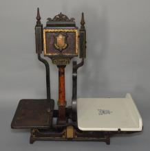 Averys Roberval Cast Iron & Porcelain Scale