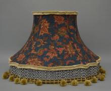 Pair of Custom Lamp Shades w Blues