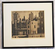 Landeck Signed Drypoint Washington Sq New York