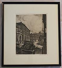 Landeck Signed Drypoint Bedford Street NYC
