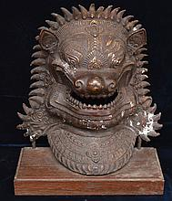 Bronze Thai Singh Lion Dog Mask