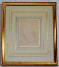18th Century Pencil Sketch Attributed to Charles Eisen
