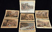 Set of 7 Guillaume Tell French Hand Tinted Engravings