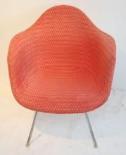 Vintage Herman Miller Eames Chair w Girard Upholstry