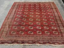 Large Vintage Bokhara Oriental Rug