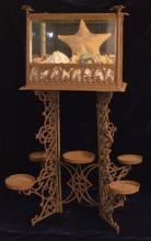 Cast Iron Terrarium & Plant Stand w Eagle Design