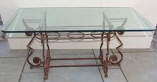 Mid Century Designer Custom Made Cast Iron Table