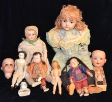 Collection of Dolls & Doll Parts